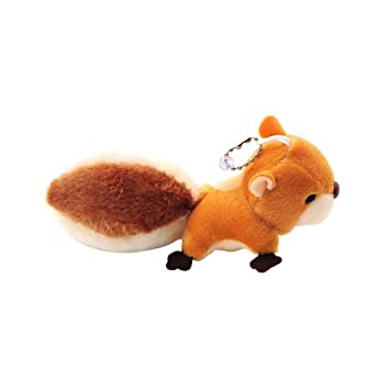 TOYMYTOY Mini Squirrel Plush Toy Keychain Doll Key Ring Bag Pendant with Sucker (Brown)
