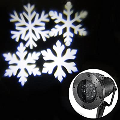 Led Party Light,LED Snowflake Light, Landscape Path Light for Holiday Decoration Happy New Year Christmas