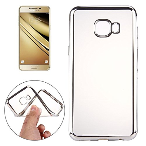 For cellphone Cases, For Samsung Galaxy A9 / A900 Electroplating Transparent Soft TPU Protective Cover Case ( Color : Silver )