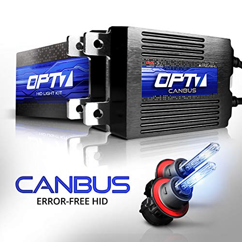 OPT7 Boltzen AC CANbus H13 Bi-Xenon HID Kit - 5X Brighter - 6X Longer Life - All Bulb Sizes and Colors - 2 Yr Warranty [6000K Lightning ()