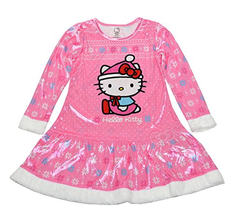 Hello Kitty Girls' Big' Sleep Gown, Pink, Small