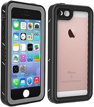 BESINPO - Funda Impermeable para iPhone 5/5S/SE, Carcasa de Cuerpo Completo y bajo el Agua, a Prueba de caídas, con Protector de Pantalla para iPhone ...