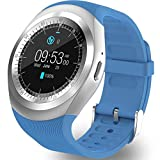 AMENON Sport Smart Watch Phone with SIM Card Call Slot Built in Camera Bluetooth for Men Women Activity Fitness Wrist Watch Bracelet Pedometer Sleep Monitor for Universal Cell Phone (D08 SkyBlue)