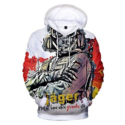 Rainbow Hoodie 3D Printed Hooded Pullover Sweatshirt (X-Large, Color 8)