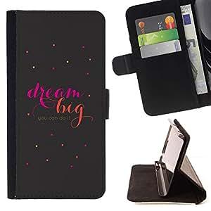Momo Phone Case / Flip Funda de Cuero Case Cover - Gran cita de motivación del texto - Samsung Galaxy S6