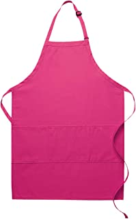 product image for DayStar Apparel Three Pocket Butcher Apron - Style 223 (6, hot Pink)