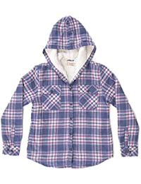 Girls Hooded Shirt Jacket