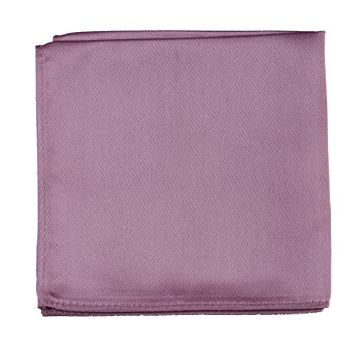 (Pocket Square Handkerchief in Solid Colors Sized for Boys and Men by Tuxgear Inc (Dusty Rose))