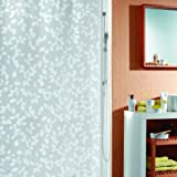 Spirella Blatt PEVA Opaque Plastic Shower Curtain, 180 x 200 cm, White