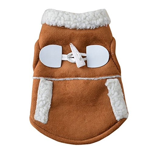 dog cat winter coat clothing clothes puppy warm motorcycle vest costume clothes for small dog chihuahua pink M R SODIAL