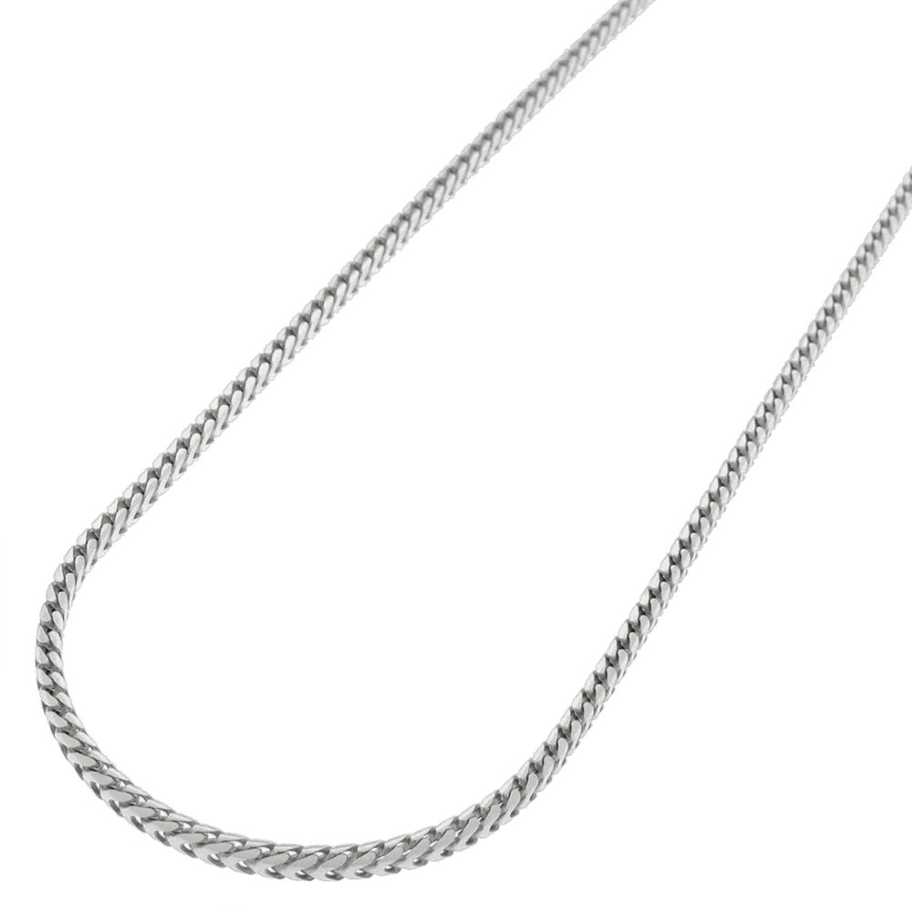 Sterling Silver Italian 1.5mm Solid Franco Square Box Link 925 Rhodium Necklace Chain 18'' - 30'' (26)
