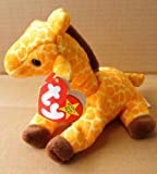 TY Beanie Babies Twigs the Giraffe Stuffed Animal Plush Toy - 6 inches tall - Orange/Brown - Style 4068