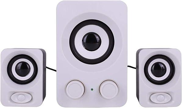 Eboxer Altavoz PC Multimedia Ordenador de sobremesa estéreo Altavoces nulidad Ruido Jack Audio 3,5 mm alimentación USB para Ordenador de sobremesa/portátil/televisores: Amazon.es: Electrónica