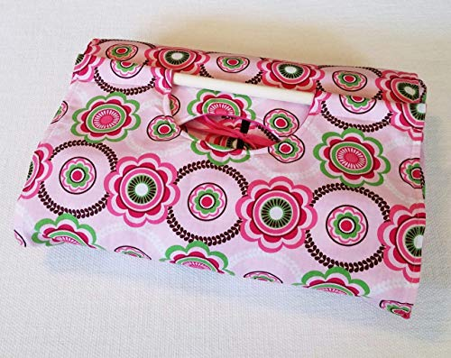 Geometric Floral 9x13 Dish Tote - FREE Shipping, Pink and Green, Made in USA