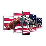 Framed American Flag Paintings Native Am