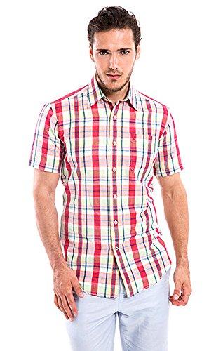 Nautica Men's Ramie Plaid Short Sleeve Shirt, Island Green, XX-Large