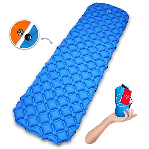 CampBro Sleeping Pad Lightweight Camping Mat Backpacking - Inflatable Air Mattress with Snap-On to Double The Size