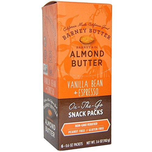 Almond California Butter - Barney Butter Nut Butter Almond Espresso Vanilla, 6 ct