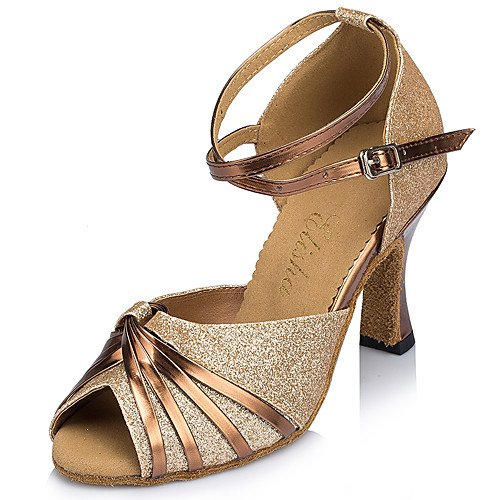 Heel Heels Shoes Women's Outdoor Fla Blue T Beginner Glitter T Sparkling Blue Q Dance n0qxUfwTRz