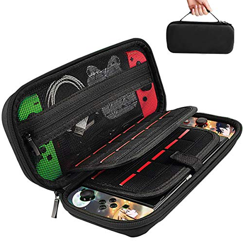 SHiQiMA Switch Carry Case for Nintendo Switch with 20 Games Cartridges Holders and Hard Shell Switch Travel Carrying…