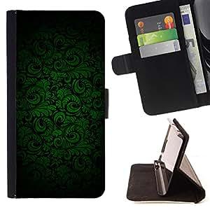 - Dark Green Black Wallpaper - Estilo PU billetera de cuero del soporte del tir???¡¯???3n [solapa de cierre] Cubierta- For HTC Desire 820 ( Devil Case )