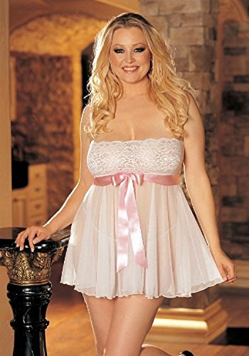 (Women's B.Doll Tie-Front Str.Lace (White/Pink;One)