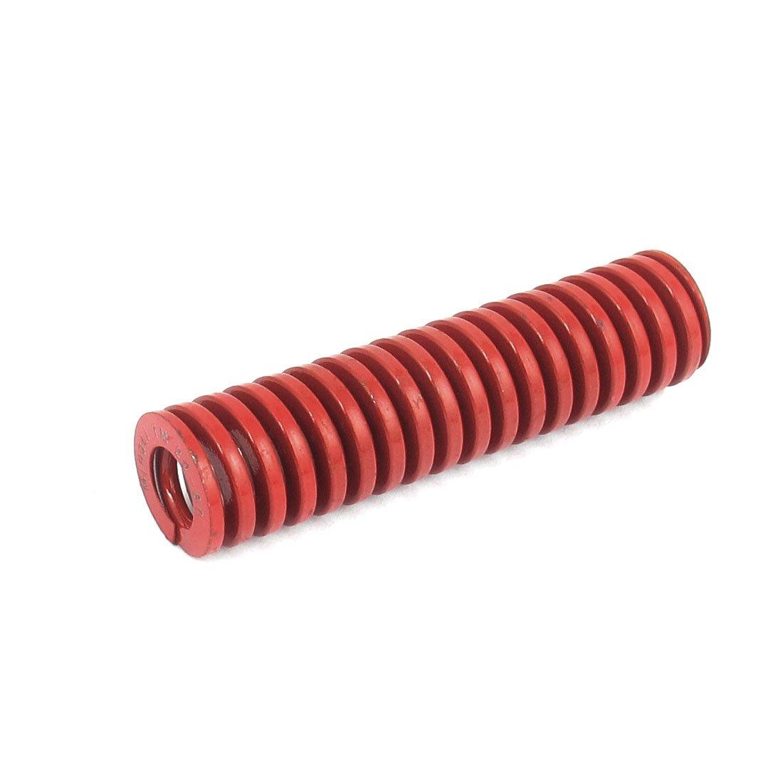 sourcingmap/® 20mmx80mm Chrom Legierung Stahl Die mittlere Traglast Feder Rot Stanzformen de