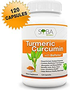 Premium Turmeric Curcumin with Bioperine (Black Pepper) Supplements - Anti-Inflammatory, Pain Support, Maximum Potency, Exceptional Absorption and Bioavailability, 60 Days Supply Veggie 650mg Capsules
