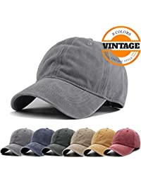 6359b983105 Unisex Vintage Washed Distressed Baseball-Cap Twill Adjustable Dad-Hat