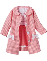 Baby-Girls Houndstooth Coat and Dress Set