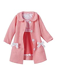 Bonnie Jean Baby-Girls Houndstooth Coat Dress Set