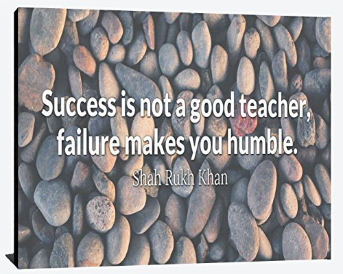 Success is not a Good Teacher Failure Makes you Humble Shah Rukh Khan Success Relentless Fearless Overcome Happiness Joy Prosperity Wood Wall Art Print Photo Image Decor (Shahrukh Khan Best Images)