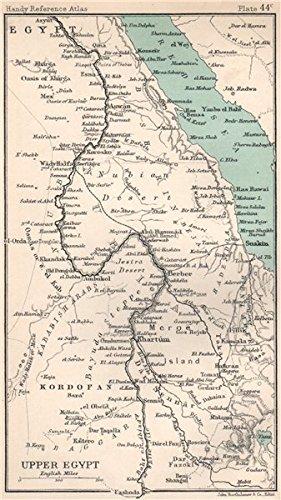 Upper Egypt Nile Valley Sudan Red Sea Bartholomew 1904 Old