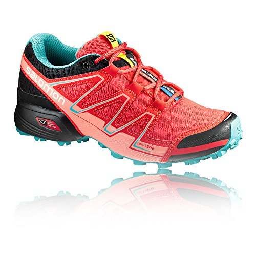 Vario poppy Speedcross Rojo Mujer Trail W black ceramic Zapatillas Para Salomon Red Running De B6gwwq