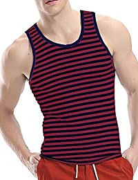 Men's Crew Neck Y-Back Tank Tops Sleeveless Workout Muscle Undershirts