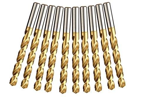 5x HSS-TIN Metallbohrer Spiralbohrer für Akkuschrauber//Bohrmaschine Ø 8,1mm