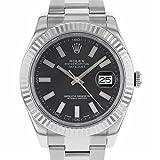 Rolex Datejust II 116334 BKIO 2010 41mm Case 18K White Gold & Steel Automatic Men's Watch (Certified Pre-owned)