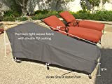 SUNMART Patio Chaise Cover Premium Tight Weave - Protect Your Furniture from UV Mildew Mold Water Damage with Adjustable Velcro Fit - 84''L x 30''W x 29''H in Grey
