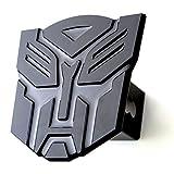 "5'' Transformer Autobot Black 3d Logo Trailer Metal Hitch Cover Fits 2"" Receivers"