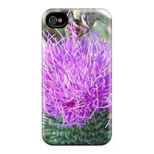 Fashionable MCPUKyC4734FPaWS Iphone 4/4s Case Cover For Bee At The Flower Protective Case