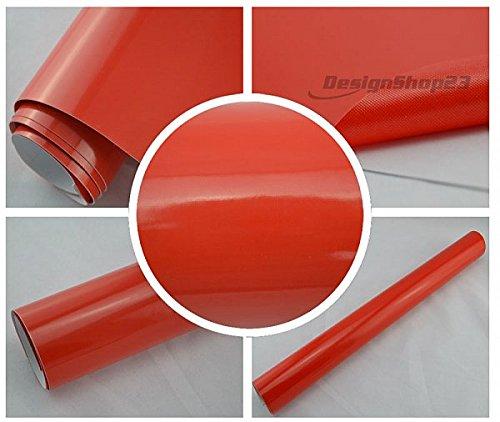 1000 x 152 cm BLASENFREI selbstklebend flexibel Car Wrapping Klebe Folie 4,93/€//m/² Auto Folie ROT GL/ÄNZEND