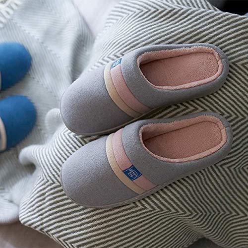 Unisexe Coton Garder Chaussure Chaussons Molleton Intérieur Chaud Hiver Accueil Antidérapant Mode De Pantoufle Coton Soie WomenGray rUE7Un