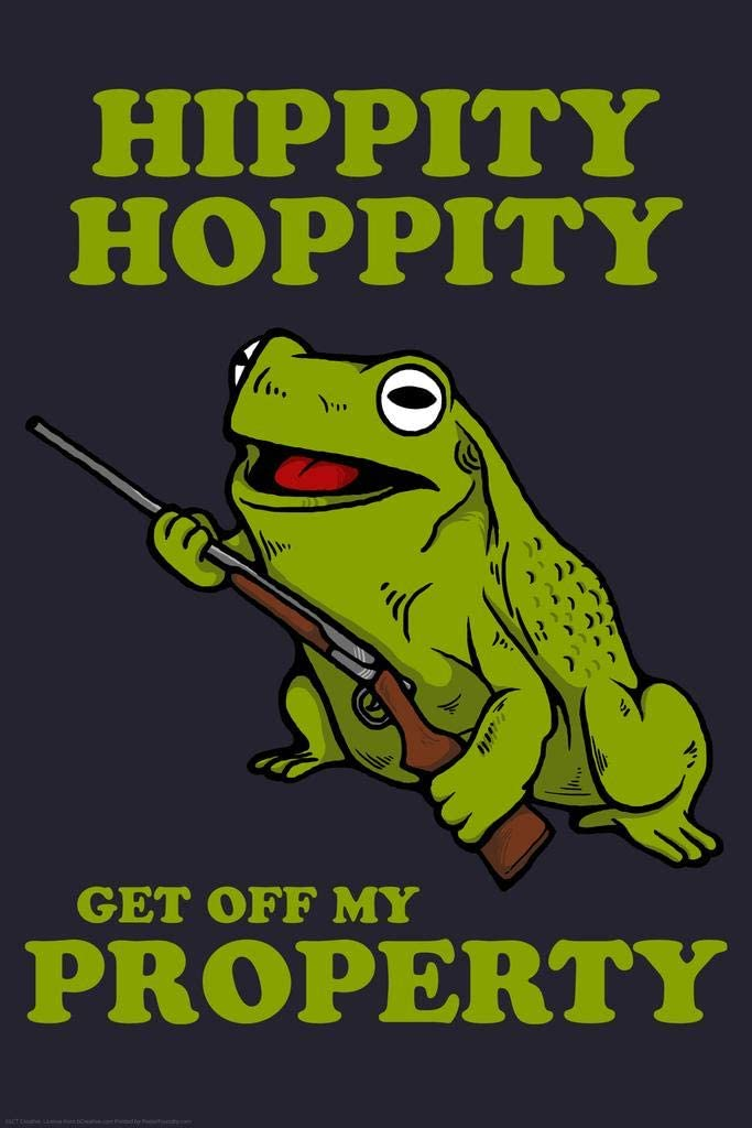 Amazon Com Hippity Hoppity Get Off My Property Funny Cool Wall Decor Art Print Poster 24x36 Home Kitchen Check out our hippity and hoppity selection for the very best in unique or custom, handmade pieces from our shops. hippity hoppity get off my property funny cool wall decor art print poster 24x36
