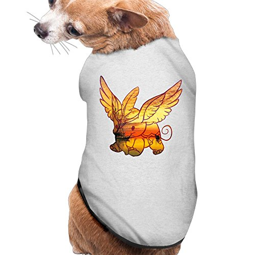 MiiksL Sunset Fisherman Angel Elephant Dogs Shirt Puppy Clothes Pets (Fisherman Costumes Ideas)