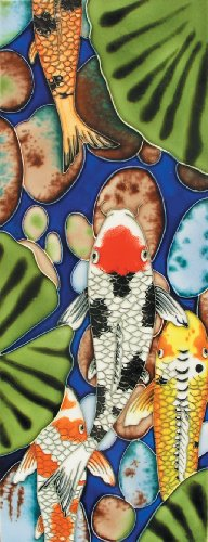 Koi I - Decorative Ceramic Art Tile - 6