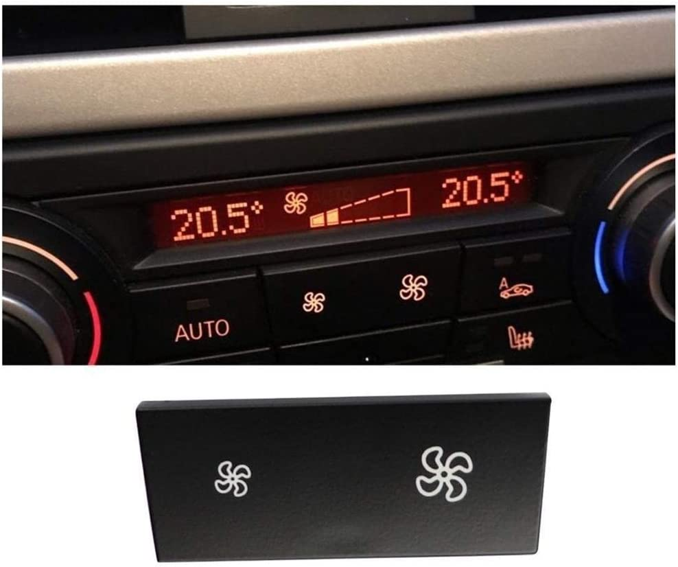 AN Claral Reparaci/ón de Control de Aire del Ventilador del acondicionador bot/ón en Forma for el BMW X1 1 Serie 3 E84 E87 E88 E90 E91 Panel E92 E93 LCI Calentador clim/ático conmutador Cap Claral