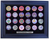 Black Casino Chip Display Frame for 24 Casino Poker Chips (Not Included)