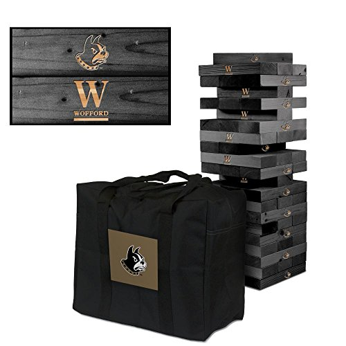 NCAA Wofford Terriers 1018296Wofford College Terriers Wooden Tumble Tower Game, Multicolor, One Size by Victory Tailgate