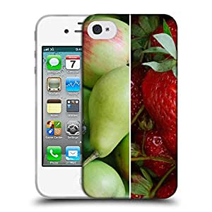 Super Galaxy Coque de Protection TPU Silicone Case pour // V00001764 alimentos collage de fruta sana // Apple iPhone 4 4S 4G