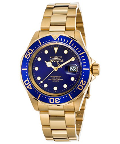 Invicta Men's 17058 Pro Diver 18k Gold Ion-Plated Stainless Steel Watch